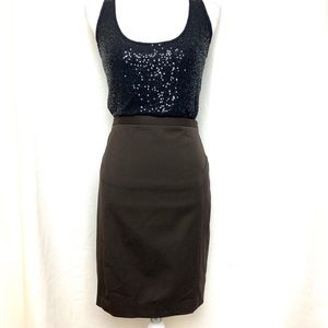 Express dark brown pencil skirt size 6